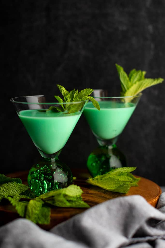 Two grasshopper cocktails