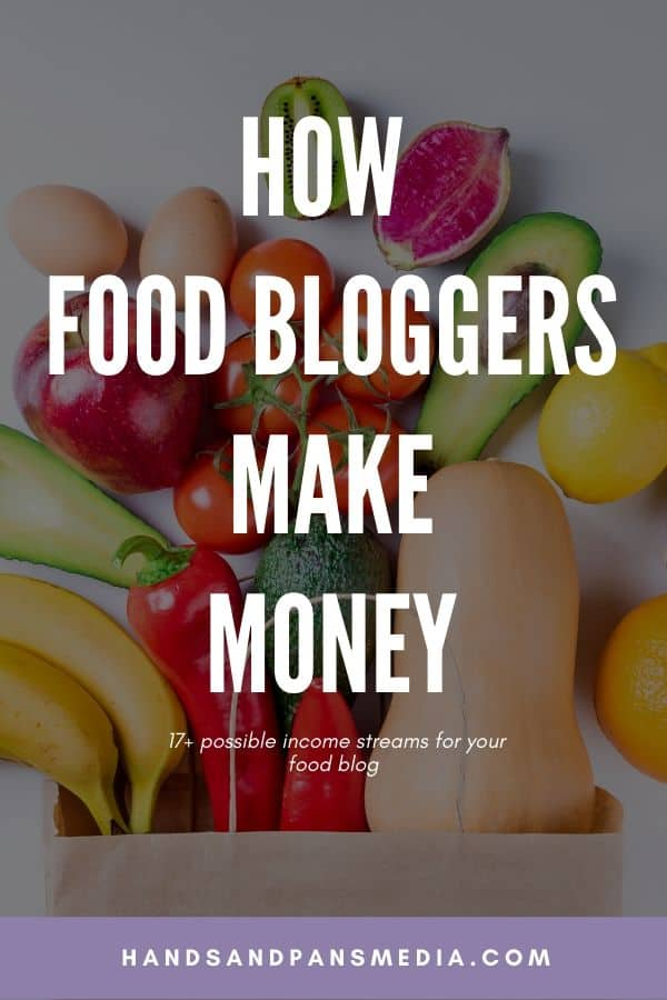 Fruit and Veggies with the overlay of the words how food bloggers make money